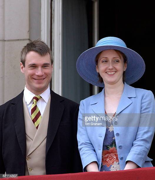 The Earl And Countess Of Ulster On The Balcony Of Buckingham Palace After Trooping The Colour Wearing Traditional Morning Suit And Tails