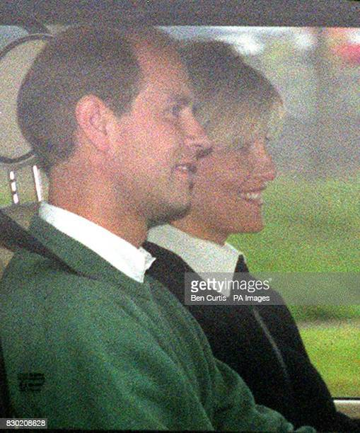 The Earl and Countess of Wessex arrive at Aberdeen Airport after departing their honeymoon retreat at Birkhall Scotland to board a flight back to...
