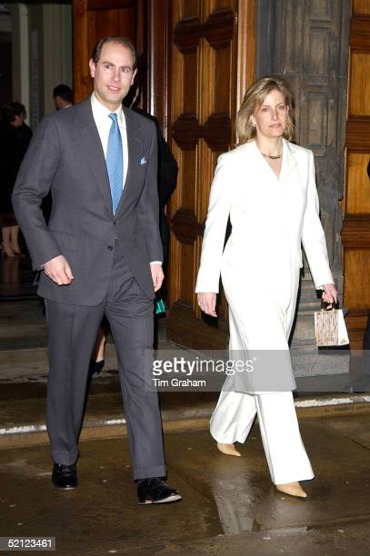 The Earl and Countess of Wessex at the V A for a reception to launch the exhibition 'Style and Splendour Queen Maud of Norway's Wardrobe 18961938'...