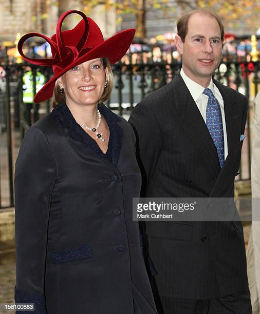 The Earl And Countess Of Wessex Attend A Service Celebrating Queen Elizabeth Ii And Prince Philip, The Duke Of Edinburgh'S 60Th Diamond Wedding...