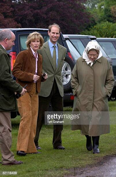 The Earl And Countess Of Wessex Out In Public For The First Time Since Announcing They Are Expecting A Baby Were With Queen Elizabeth II At The Royal...