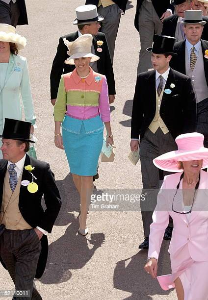The Earl And Countess Of Wessex [ Prince Edward And Sophie Rhysjones ] On Their Second Anniversary Attending Royal Ascot Races