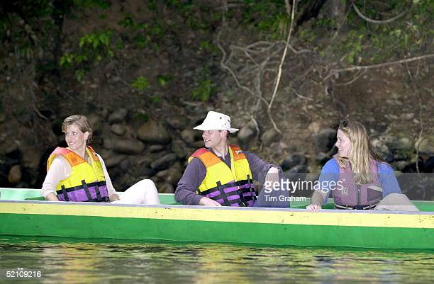 The Earl And Countess Of Wessex [ Prince Edward And Sophie Rhysjones ] Riding In A Canoe During Their Visit To An Outward Bound Centre Run By Raleigh...