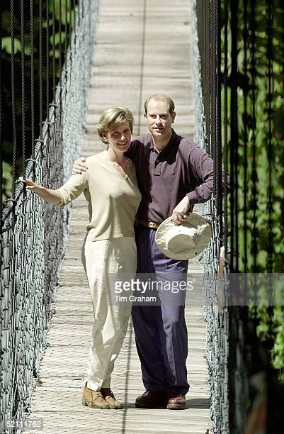 The Earl And Countess Of Wessex [ Prince Edward And Sophie Rhysjones ] Visiting An Outward Bound Centre Run By Raleigh International In The Ulu...