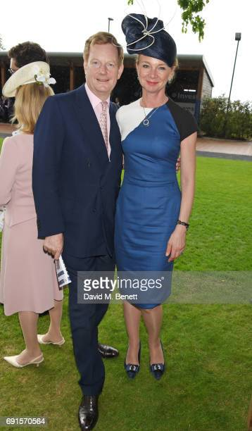 The Earl of Derby and The Countess of Derby attend Ladies Day of the 2017 Investec Derby Festival at The Jockey Club's Epsom Downs Racecourse at...