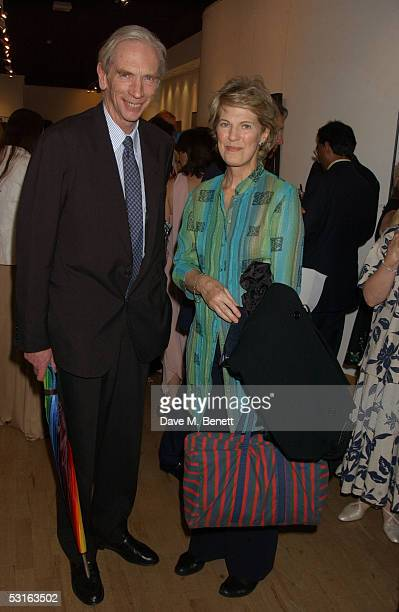 The Earl of Home and Lady Home attend the Private View for The Sixties Set An Inside View By Robin DouglasHome at The Air Gallery on June 28 2005 in...