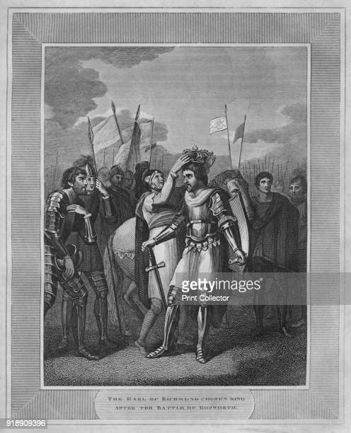 'The Earl of Richmond Chosen King After The Battle of Bosworth' 1838 Henry VII King of England from 1485 until his death succeeded to the throne...