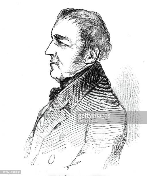 """The Earl of Shaftesbury, 1844. Portrait of British politician Anthony Ashley-Cooper, 7th Earl of Shaftesbury. From """"Illustrated London News"""" Vol I...."""
