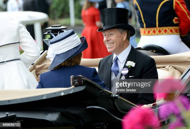 The Earl of Snowdon and Mrs David BowesLyon attend Royal Ascot 2017 at Ascot Racecourse on June 22 2017 in Ascot England