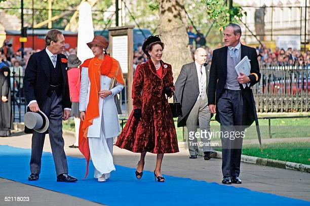 The Earl Of Snowdon Lady Sarah Armstrongjones And Princess Margaret Arriving For David Linley's Wedding