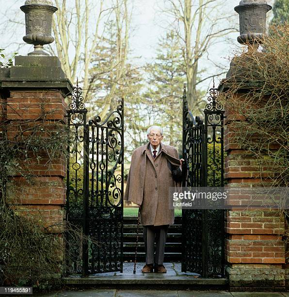 The Earl of Stockton Formerly Harold Macmillan Conservative politician and British Prime Minister at home Birch Grove East Sussex 19th January 1984