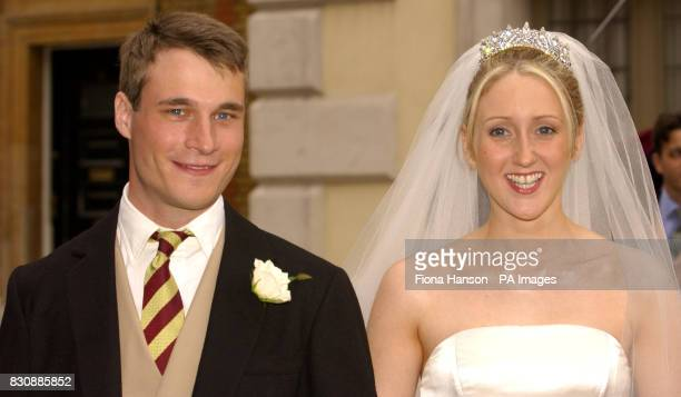 The Earl of Ulster Alexander Windsor son of the Duke and Duchess of Gloucester marries Doctor Claire Booth now the Countess of Ulster at The Queen's...