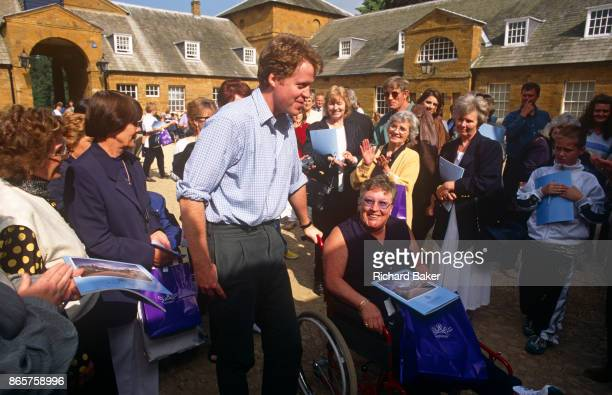 The Earl Spencer brother to Diana Princess of Wales meets the public allowed in to the family ancestral home Althorp the year after his sister's...