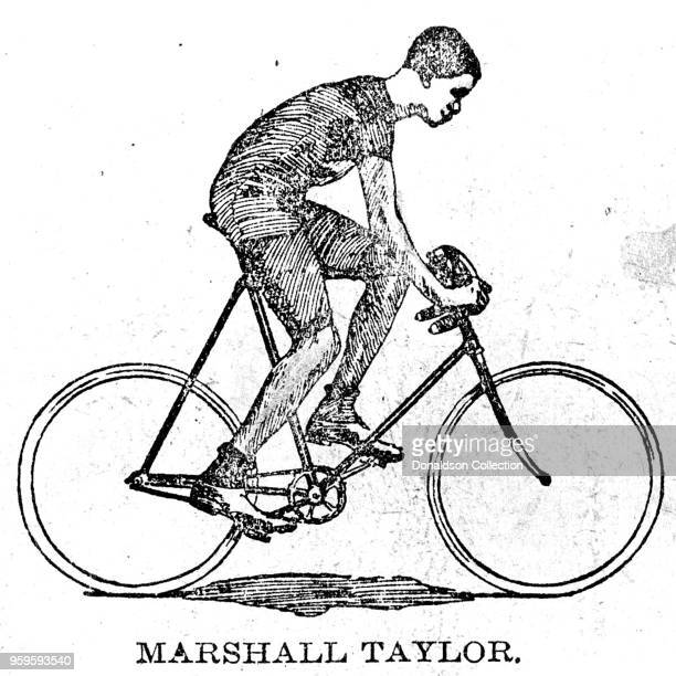 The earliest press image of Marshall Major Taylor circa 16 years old from unidentified 1895 newspaper