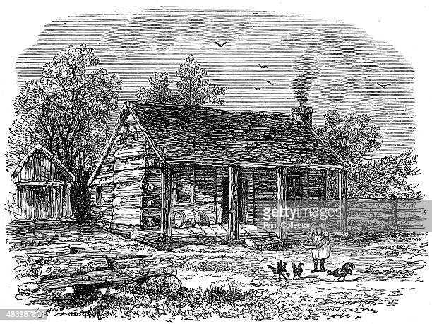 The early home of Abraham Lincoln Gentryville Indiana 19th century House where American president Abraham Lincoln lived when young