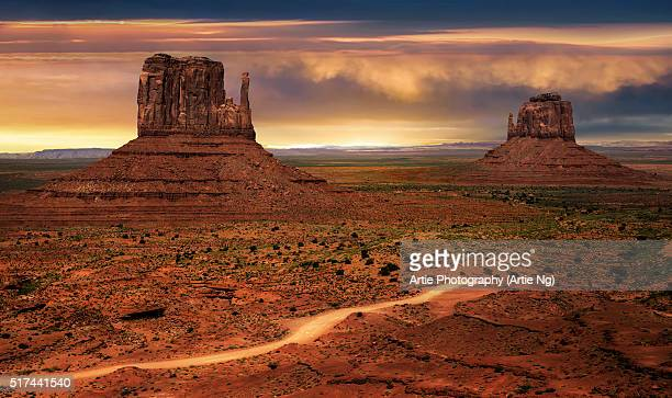 The East and West Mitten Buttes Of Monument Valley, Arizona-Utah, United States