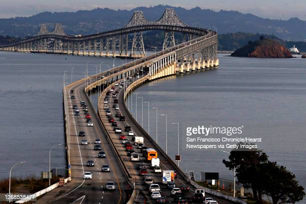 The east bound evening commute traffic across the Richmond San Rafael Bridge on Friday Jan. 26 in San Rafael, Calif. Plans are in the works to open a...