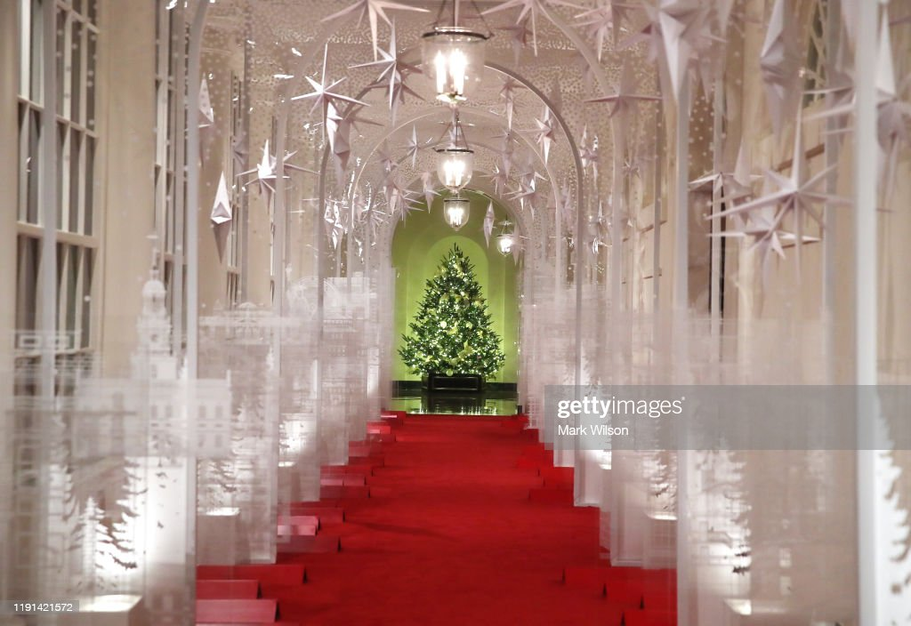 The White House Previews Decor For The Holiday Season : News Photo