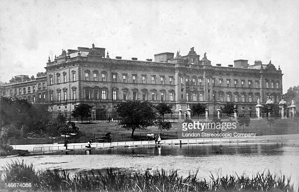 The East Front of Buckingham Palace London circa 1895 The East Front was redesigned by Sir Aston Webb in 1913