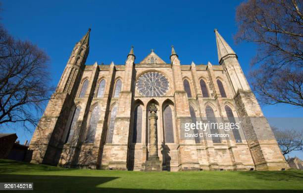The east front of Durham Cathedral, Durham, County Durham, England, UK