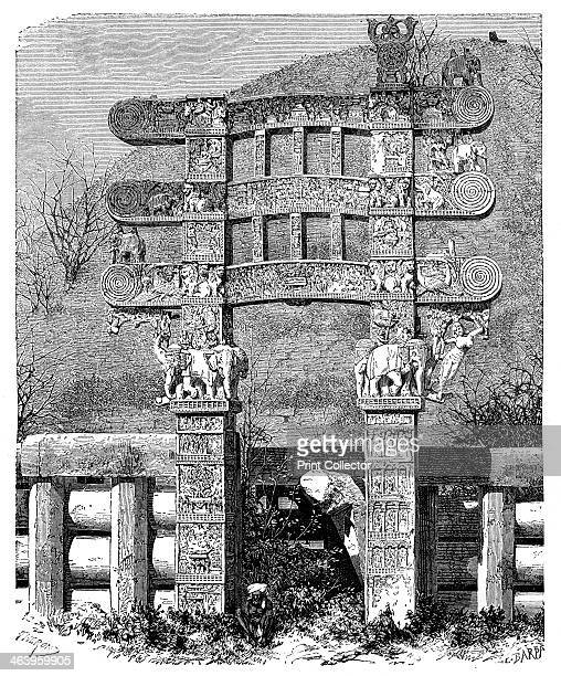 The East Gate of the Sanchi Tope India 1895 The great stupa of Sanchi is the most important surviving monument of the Shunga era It consists of a...