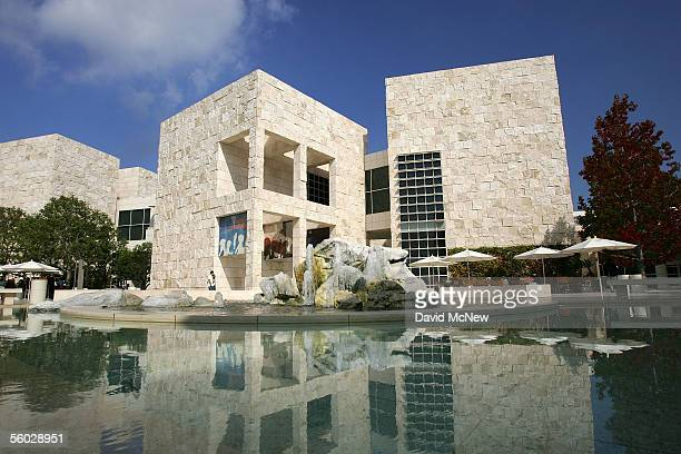 The East Pavilion at the Getty Center is seen on October 28 2005 in Los Angeles California The J Paul Getty Museum's recently departed antiquities...