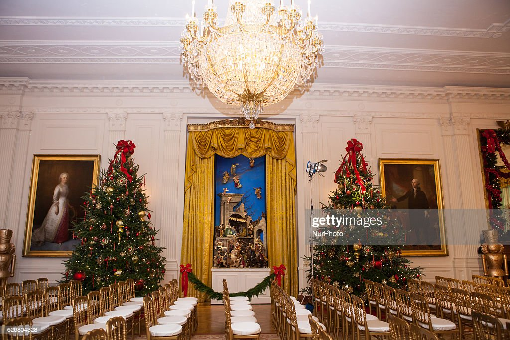 The White House Is Decorated For The 2016 Holiday Season : News Photo