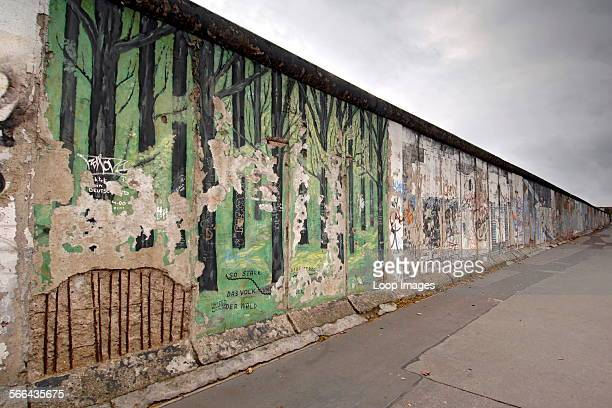 The East Side Gallery is a preserved commemorative section of the Berlin Wall in Germany