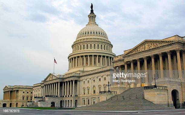 The east side of the U.S. Capitol. A most impressive building with beautiful architecture and artwork within that structure.