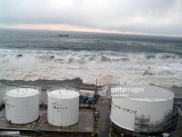 The east side of Unit5 taken from the southern side of the unit in Daiichi on March 11 2011 Fukushima Prefecture Japan The death toll has risen over...