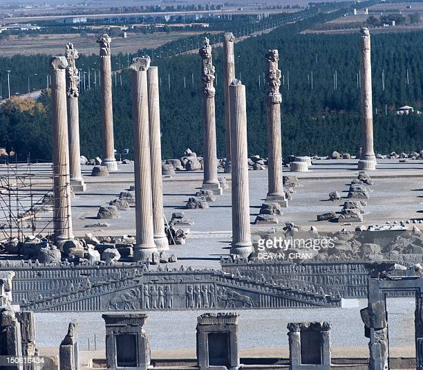 The east stairs in the Apadana in Persepolis Iran Sassanid civilisation 5th Century BC