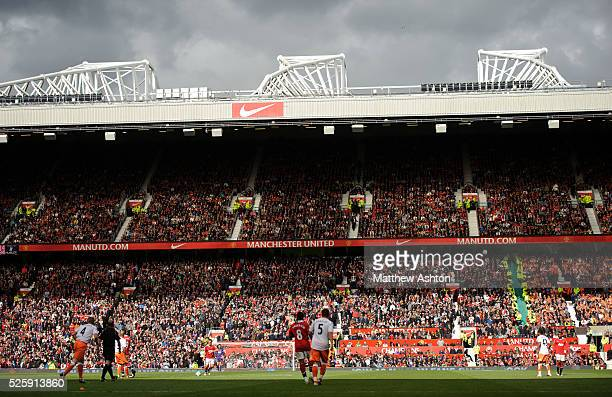 The East Stand at Old Trafford the home stadium of Manchester United