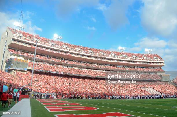 The East stands of the field during the game between the Nebraska Cornhuskers and the Colorado Buffaloes at Memorial Stadium on September 8 2018 in...