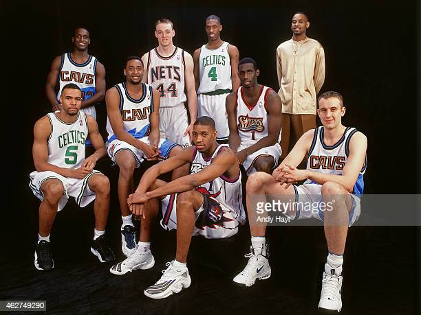 The East Team poses for a portrait prior to the Rookie Challenge during NBA AllStar Weekend on February 6 1998 in New York City NOTE TO USER User...