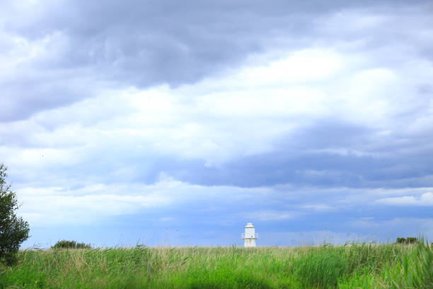 The East Usk Lighthouse on the Newport wetlands nature reserve in south Wales