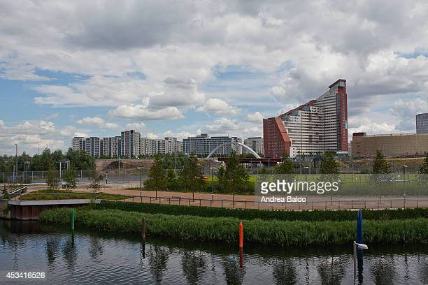 The East Village seen from the Olympic Park in Stratford East London