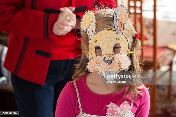 the easter bunny - rabbit mask stock pictures, royalty-free photos & images