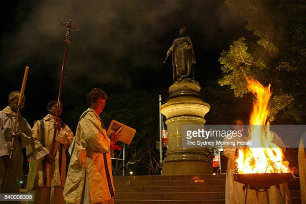 The Easter day service held at St James Anglican Church Sydney The Great Vigil of Easter and Liturgy of Resurection took place at 500 am and began...