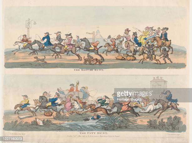 The Easter Hunt and The City Hunt May 1 1803 Artist Thomas Rowlandson