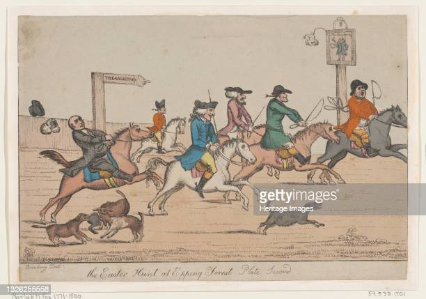The Easter Hunt at Epping Forest, Plate Second, ca. 1810. Artist Unknown.