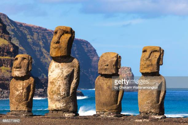 The Easter Island Moi at Ahu Tongariki