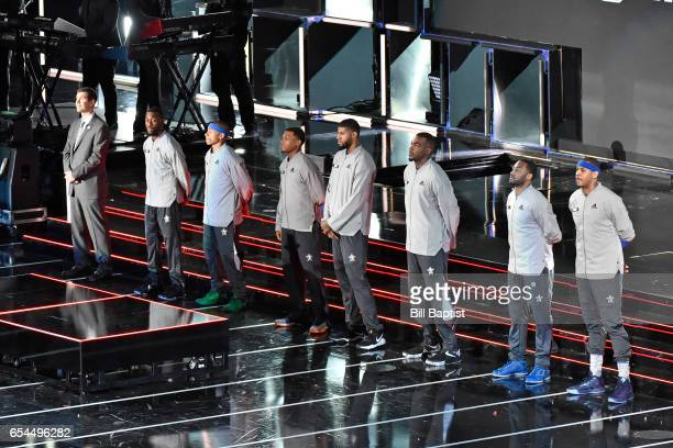 The Eastern Conference AllStar Team is announced before the 2017 NBA AllStar Game on February 19 2017 at the Smoothie King Center in New Orleans...