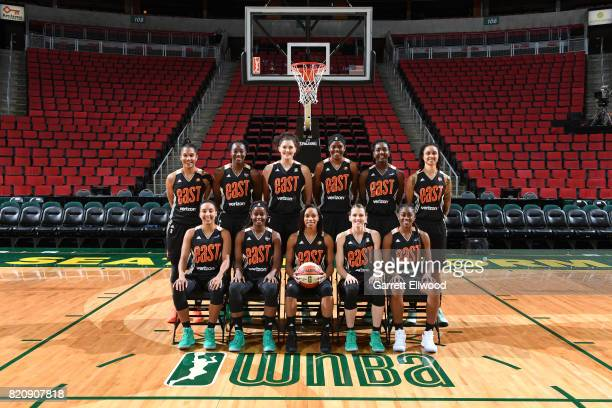 The Eastern Conference AllStars Alyssa Thomas Tina Charles Stefanie Dolson Jonquel Jones Elizabeth Williams Candice Dupree Layshia Clarendon Sugar...