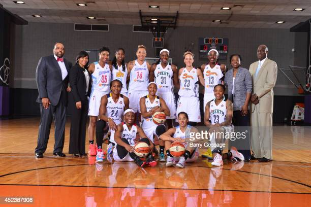 The Eastern Conference AllStars pose for a portrait prior to the 2014 Boost Mobile WNBA AllStar Game on July 19 2014 at US Airways Center in Phoenix...