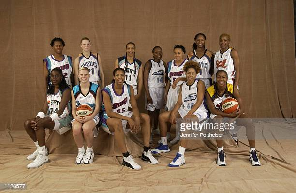 The Eastern Conference WNBA AllStars Back Row Andrea Stinson Stacey DalesSchuman Teresa Weatherspoon Shannon Johnson Dawn Staley Chamique Holdsclaw...