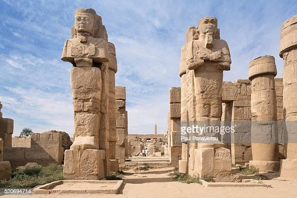 the eastern temple of ramses ii at the temples of karnak, luxor, egypt - karnak fotografías e imágenes de stock