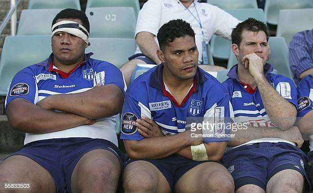 The Eastwood bench look dejected during the Tooheys New Cup Grand Final between Sydney University and Eastwood at Aussie Stadium October 01, 2005 in...