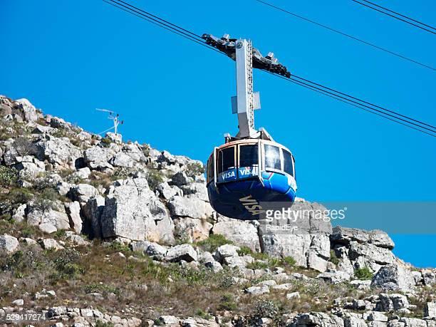 La manera más fácil para subir a la montaña de la mesa, por cable coche