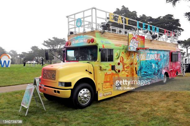 The Eat. Learn. Play. Bus is seen at The Workday Charity Classic, hosted by Stephen and Ayesha Curry's Eat. Learn. Play. And Workday, at Franklin...