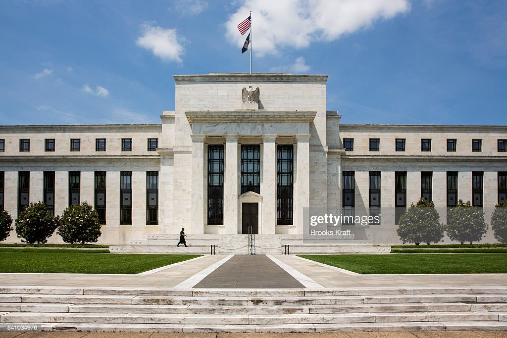Eccles Building of the Federal Reserve : News Photo